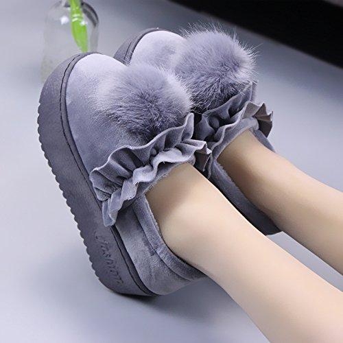 39 anti spessa femmina Kam alla pacchetto spiedini simili con attraverso gli plus velluto per di scarpe Inverno moda a pantofole radice cotone pantofole scarpe off morbide CWAIXXZZ caldo slittamento xqP6pSw