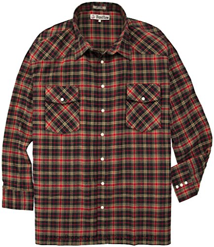 Tall Western Flannel Shirt Foxfire product image