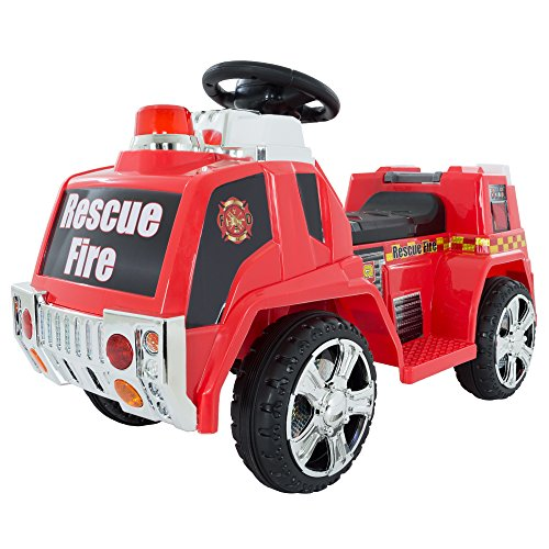 Fire Truck Riding Pedal Car (Ride on Toy, Fire Truck for Kids, Battery Powered Ride on Toy by Lil' Rider - Toys for Boys and Girls, Toddler - 5 Years Old)