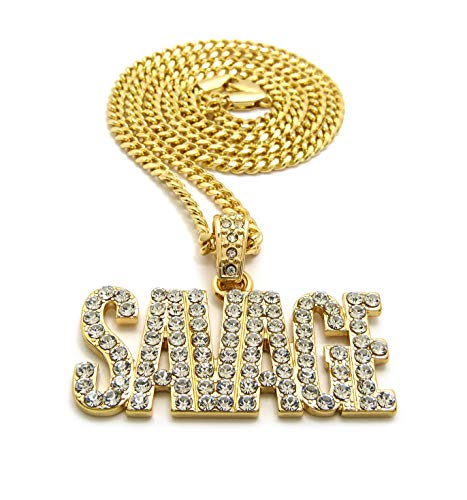 Fashion 21 Unisex Pave Savage Pendant 24