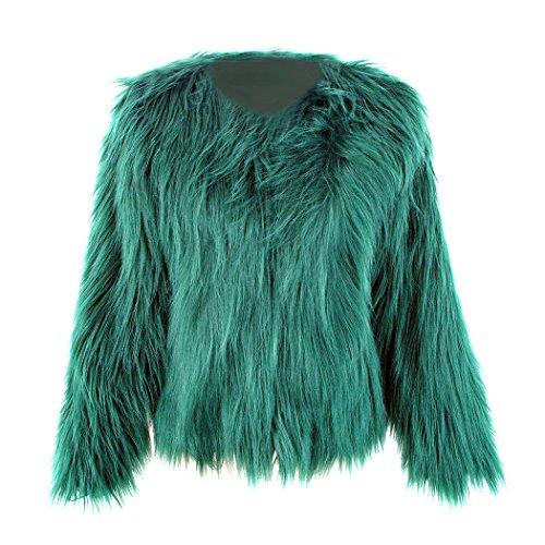 moderate Kosten 2019 Ausverkauf Farbbrillanz mioim Damen Jacke Faux Pelz Langarm Winter Warm Kunstfur Jacket Kurz Mantel  Felljacke Tops