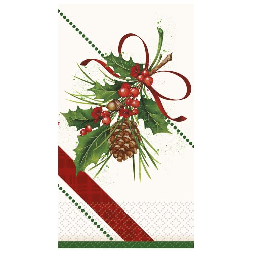 Holly Sprig Holiday Paper Guest Napkins, 16ct (Sprig Holiday)