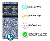 Smartline Laguna 18-Foot-by-33-Foot Oval Pool Liner