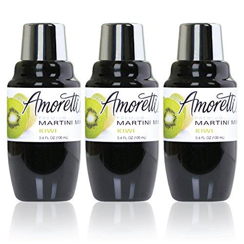 Amoretti Premium Martini Cocktail Mix Minis, Kiwi, 3.4 Fluid Ounce by Amoretti