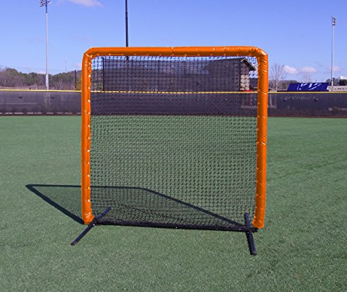 7x7 Armor Baseball / Softball Protective Screen with ORANGE Padding by Armor