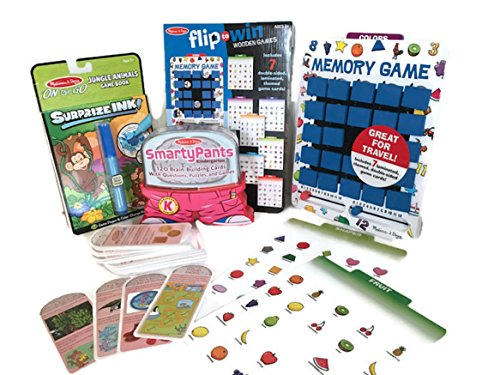 Melissa and Doug Learning-Fun Travel Bundle: Activities and