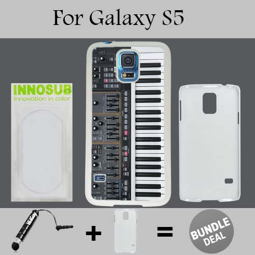 Synthesizer Custom Galaxy S5 Cases-White-Plastic,Bundle 2in1 Comes with Custom Case/Universal Stylus Pen by ()