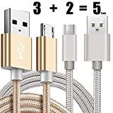 [5 Pack] Kindle USB Cable A Male to Micro B 5FT