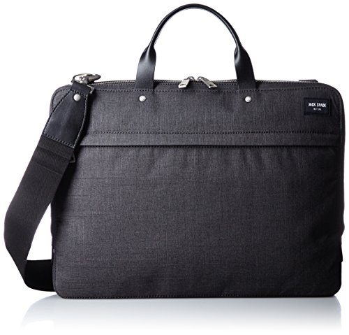 Jack Spade Men's Tech Oxford Slim Nyru1352 Briefcase, Charcoal (Inspired Bridle)