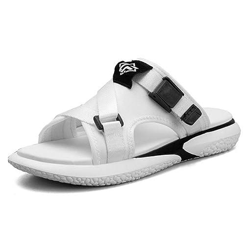 27209ee2896 Homme Sandale Chaussure pour Plage Mer Pantoufle de Sport Basket Mode Bout  Ouvert Tong Loisir Antidérapant