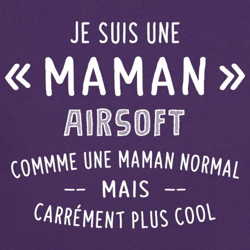 une maman normal airsoft - Femme T-Shirt - Violet - XL