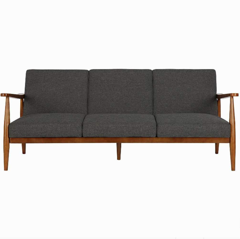 Amazon.com: Tufted Loveseat Sofa, Three Person, Gray Color ...