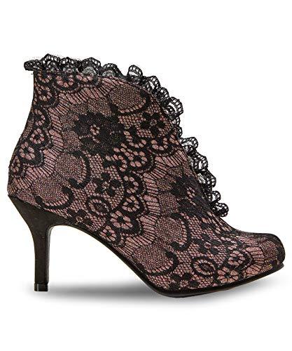 Talons Black Femmes Bottines Gold Joe Style Vintage Browns Multi Mid nqa0wPp1