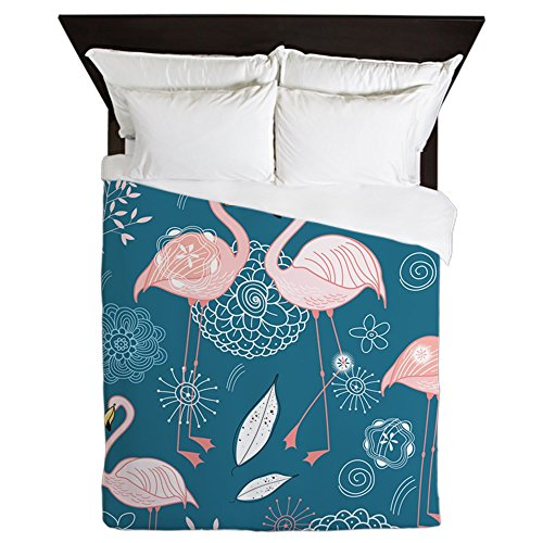 CafePress - Cute Flamingos - Queen Duvet Cover, Printed Comf