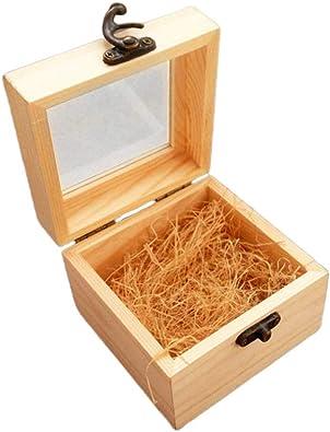 Healifty 2 Piezas de Mini Caja De Madera Joya Caja de Regalo de ...