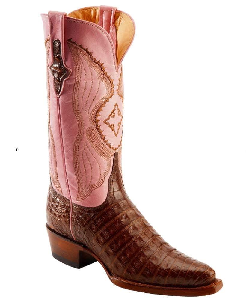 - Ferrini Cowboy Lady Chocolate Caiman Boots