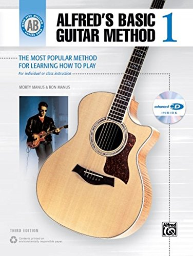 Alfred's Basic Guitar Method, Bk 1: The Most Popular Method for Learning How to Play, Book & Enhanced CD (Alfred's Basic Guitar Library)