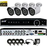 CIB True Full HD 8CH 1920TVL 1080P Recording and Display DVR system with 1TB HDD and 4 2Megapixel Vandal Bullet Cameras Network Remote Viewing -- H80P08K1T56W-4KIT