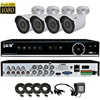 CIB True HD 1920TVL 1080P 8CH Recording and Display DVR system with 2TB HDD and 4x2.1Megapixel HD 1080P Bullet Cameras with Network Remote Viewing-- H80P08K2TB56-4KIT