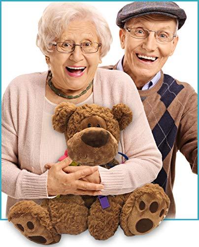 GeriGuard Solutions Memory Loss Fidget Bear for Dementia & Alzheimer