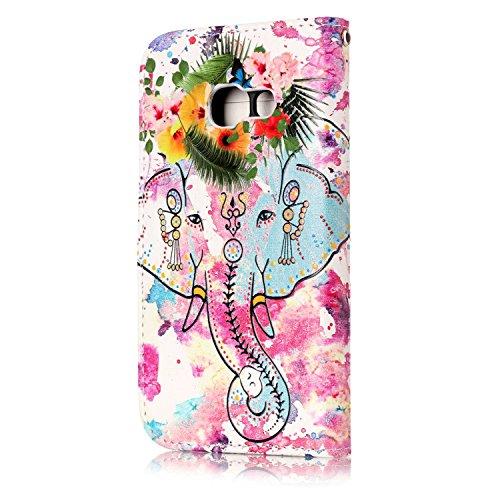 Galaxy Cuir Samsung Etui de A3 Flip à Magnétique Etui Case Cover Galaxy Uposao Coque Coque Protection Coque Housse 2017 Housse Housse A3 2017 2017 A3 Galaxy 2017 éléphant Ultra Fleur Pure Mince A3 Galaxy Rabat Slim HqRfdZz