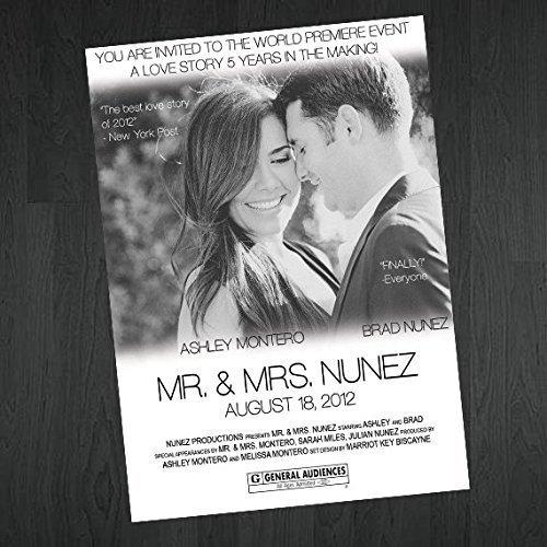 Amazon Com Movie Themed Wedding Invitation Movie Themed Save The