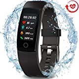 MorePro Waterproof Health Tracker, Fitness Tracker Color Screen Sport Smart Watch,Activity Tracker with Heart Rate Blood Pressure Calories Pedometer Sleep Monitor Call/SMS Remind for Women Men