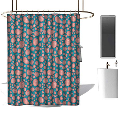 TimBeve Quality Fabric Shower Curtain Pale Pink,Drops and