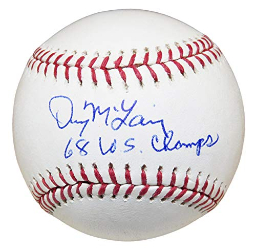 Signed Denny McLain Baseball - Official w 68 WS Champs - Autographed Baseballs