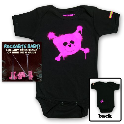 Rockabye Baby! Lullaby Renditions of Nine Inch Nails + Organic Baby Bodysuit (Pink)