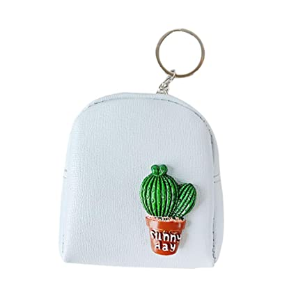 JUNGEN Billetero de Cactus Creativo Mini Mochila Monedero ...