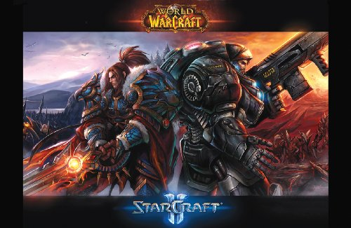 11x17 Poster Print World of Warcraft & Starcraft