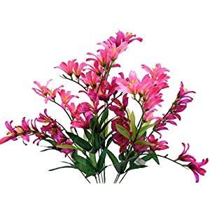 "Freesia Bush Artificial Silk Flowers 21"" Bouquet 9-6218 104"