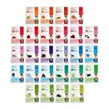 DERMAL 26 Red & Green Combo Pack Collagen Essence Full Face Facial Mask Sheet - The Ultimate Supreme Collection for Every Skin Condition Day to Day Skin Concerns