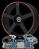 Motegi Racing MR116 Matte Black Wheel With Red Racing Stripe (18x8