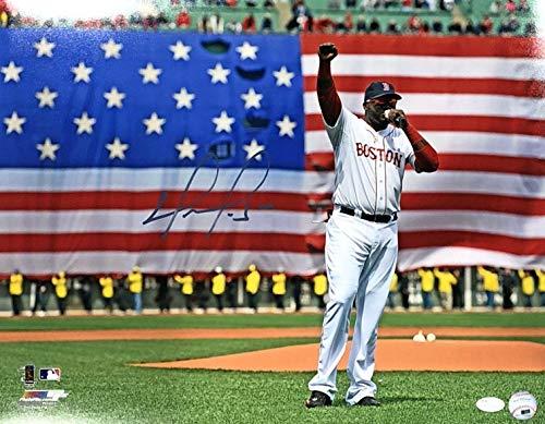 David Ortiz Signed Photograph - Strong 16x20 - JSA Certified - Autographed MLB Photos