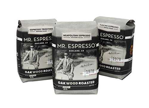 Mr. Espresso Coffee, Certified Organic by CCOF and Certified Fair Trade SEVEN BRIDGES BLEND (Italian Dark Roast Whole Coffee Beans)