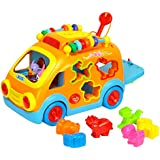 GoAppuGo Amazing Learning Car with Counting beads, Animal Sounds - Baby Birthday Gift for 1 2 3 year old boy girl child, Best Educational toys Learning toddlers Musical toys