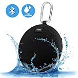 Portable Speaker,Ozzie Wireless Stereo Bluetooth 4.0 Travel Outdoor Sport Waterproof Bluetooth Speaker Indoor Shower Mini Speaker for iPhone,Android with Carabiner - Handsfree Calling,5+ Hours (Black)