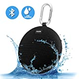 Portable Speaker,Ozzie Wireless Stereo Bluetooth 4.0 Travel Outdoor Sport Waterproof Bluetooth Speaker Indoor Shower Mini Speaker for iPhone,Android with Carabiner – Handsfree Calling,5+ Hours (Black)
