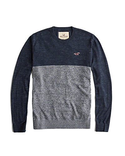 Hollister Men's Icon Sweater Top (Heather Navy, M)