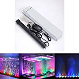 Xcellent Global Multi Color Changing 12 Inch 12 RGB LED Underwater Submersible Aquarium Fish Tank LED Lights Air Bubble Lights M-LD080S