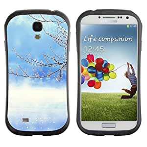 "Hypernova Slim Fit Dual Barniz Protector Caso Case Funda Para SAMSUNG Galaxy S4 IV / i9500 / i9515 / i9505G / SGH-i337 [Naturaleza del árbol del invierno""]"