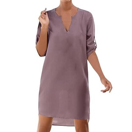 Vestido de mujer, Ba Zha Hei de Vestido irregular de playa con dobladillo irregular con