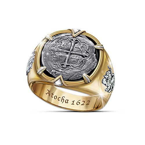 Atocha 1622 Shipwreck Men's Ring Crafted From Sunken 8 Reales Silver Coins: 14.5 (Atocha Gold Coin)