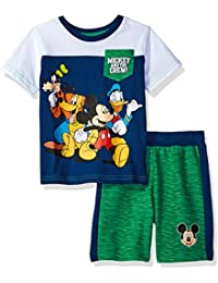 Boys' 2 Piece Mickey Mouse T-Shirt and Space Dye Short Set