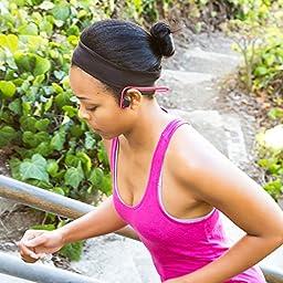 Aftershokz AS600PK Trekz Titanium Open Ear Wireless Bone Conduction Headphones, Pink