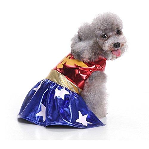 (Bello Luna Pet Costumes Dog Hero Super Woman Dress)