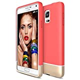 Galaxy Note 4 Case, Maxboost [Vibrance Series] Protective DUAL-layered SOFT-Interior Scratch Finished Slider Style Hard Cases for Samsung Note 4 (2014 Model SM-N910S/SM-N910C)- Italian Rose/Gold