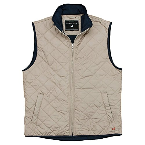 Southern Marsh Marshall Quilted Knob Gray L Mens Vest